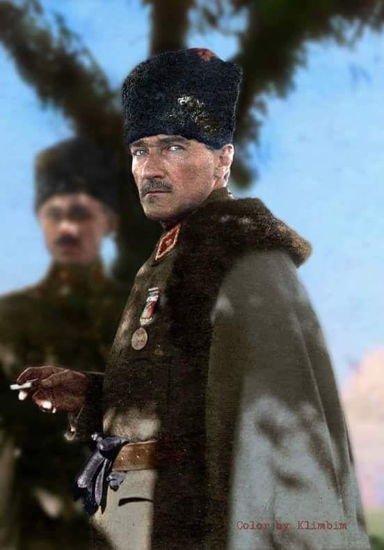 Atatürk Mareşal Kalpaklı renklendirilmiş resim maşallah.jpeg