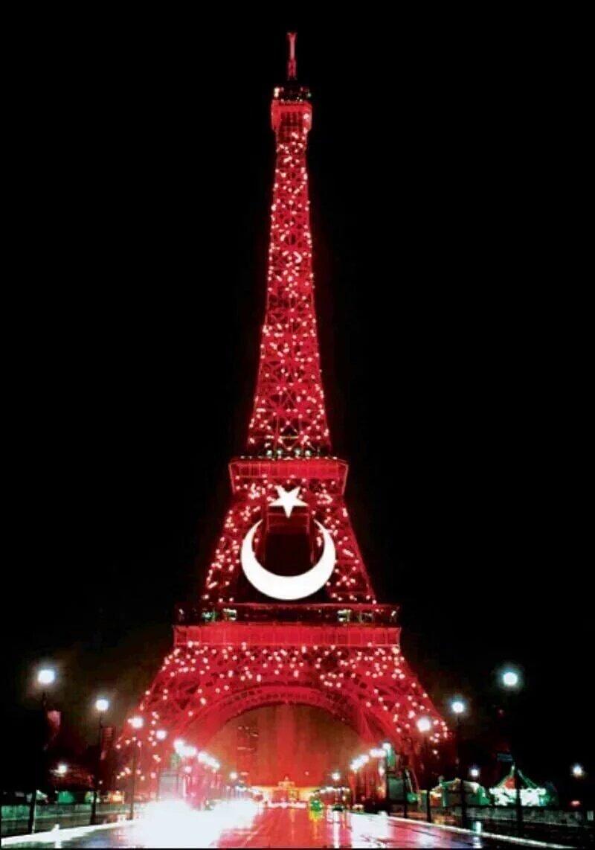 Avrupa futbol şampiyonası 2016 France Fransa Eiffel Tower Eyfel Kulesi Türk Bayrağı Turkish  7.jpeg