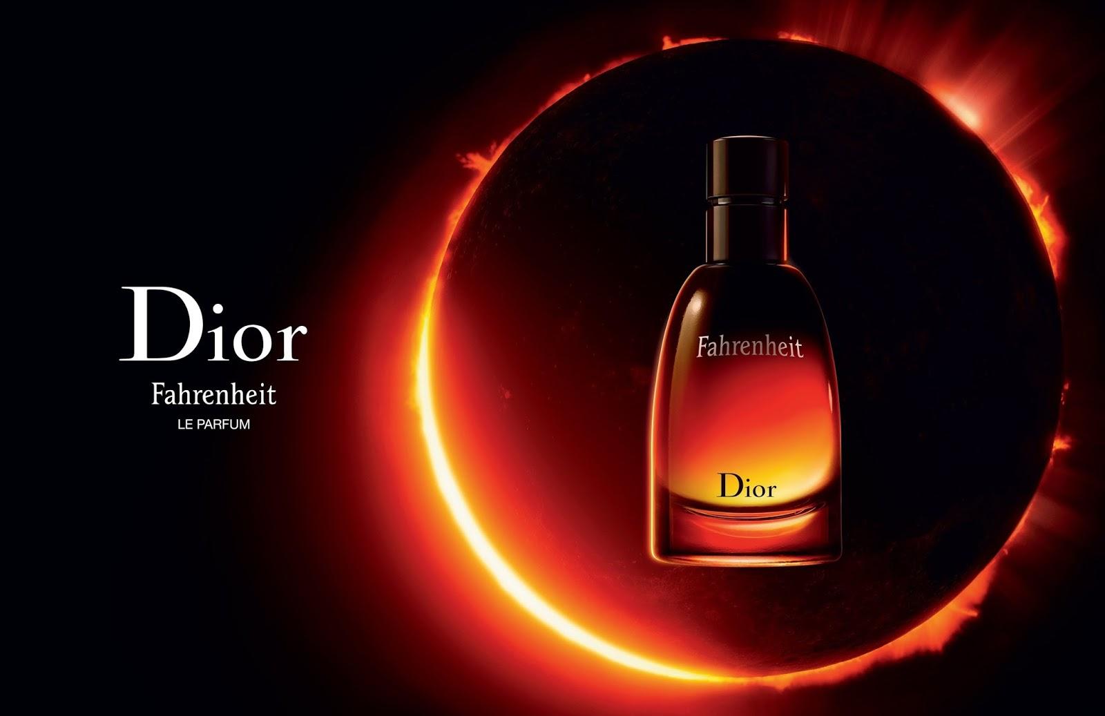 Fahrenheit Le Parfum Christian Dior for men Güneş tutulması karanlık çember ay reklam afi...jpg