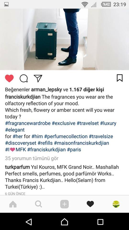 franciskurkdjian instagram hesabı TurkParfum yorumunu beğen like liked to comment tlf yrm f k.jpg
