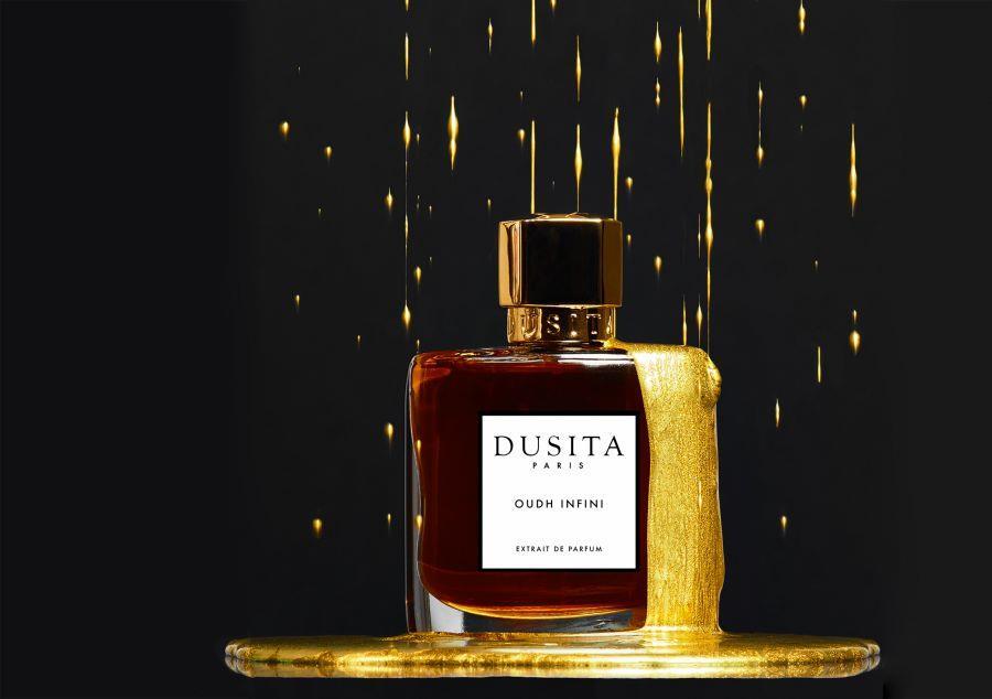 Oudh Infini Parfums Dusita for women and men üstüne altn akıyor Dawn in the sky şiirindeki...jpg