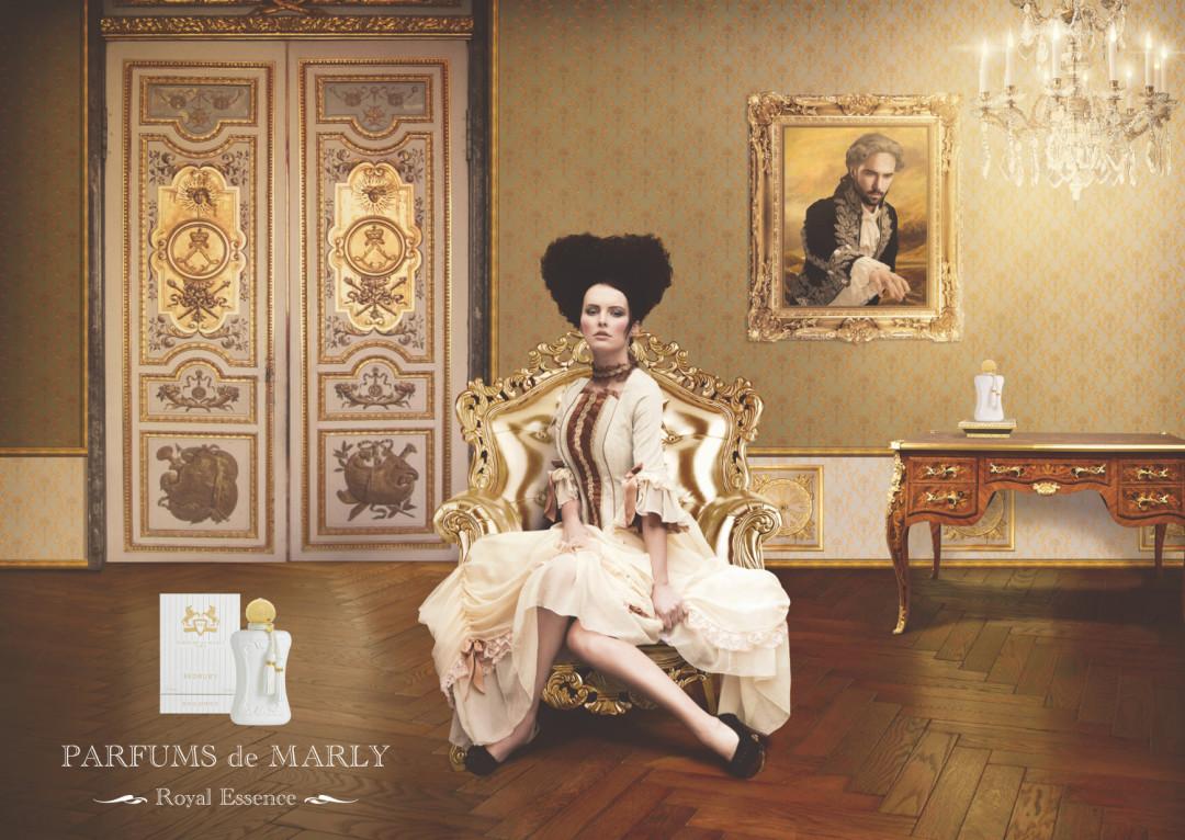Sedbury Parfums de Marly for women Avrupalı klasik tarz eski çağ giyinmiş kadın afişi pa...jpg