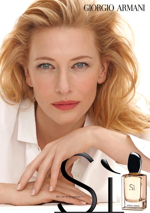 Si Giorgio Armani for women bayan manken aktris Cate Blanchett afiş.jpg