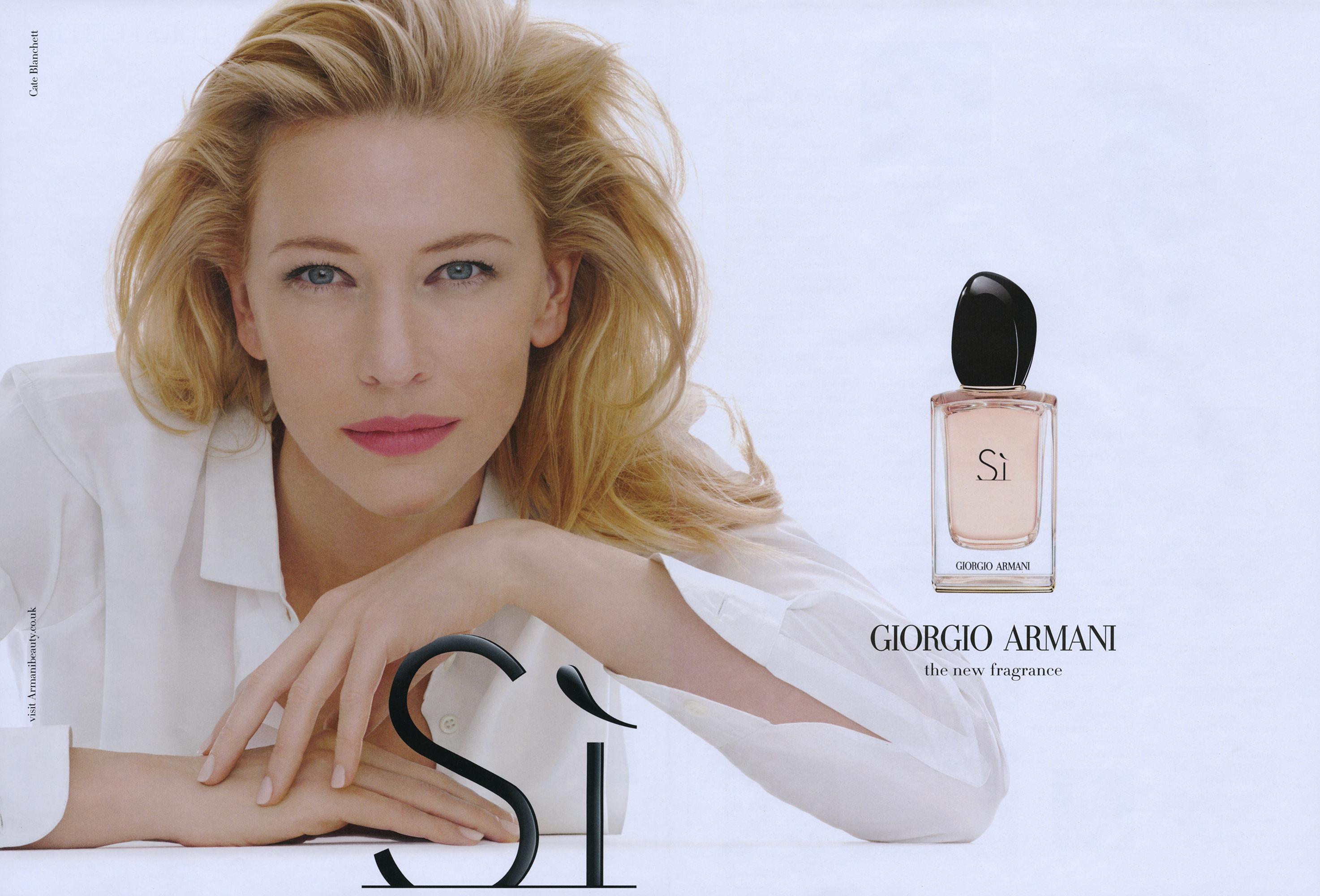 Ünlü avustralyalı aktris Cate Blancett Armani Si parfümünün yeni yüzü oldu..jpg